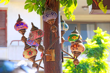 Colorful street lamps of Turkey