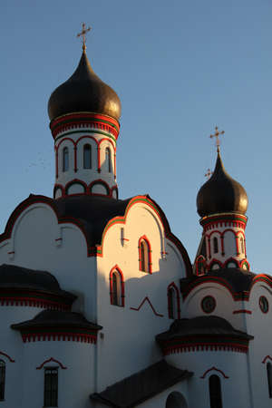 One of the numerous russian churches in Moscow in the sunset