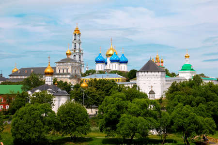 The panoramic view of the Sergiev Posad Monastery in Russia Stock Photo - 12093352