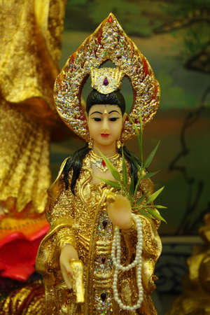 Guan yin Chinese at Chachoengsao near Bangkok, Thailand. photo