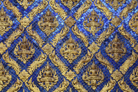 Pattern in Traditional Thai Style at Temple in Thailand. photo