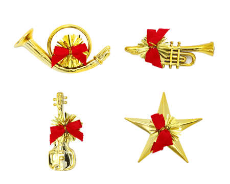 Christmas Instrument on White Background. photo