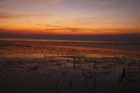 Sunset at Bangpu near Bangkok. Thailand. Stock Photo - 11881217
