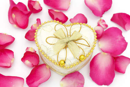 Heart cup and rose petals Stock Photo - 12065028