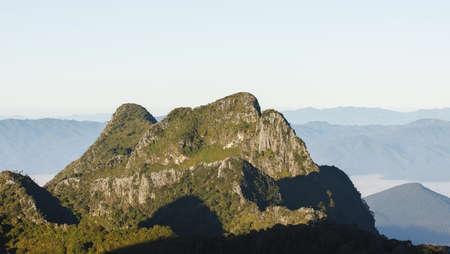 dao: View from Doi Chiang Dao mountain, Chiang mai Province, Thailand. Stock Photo
