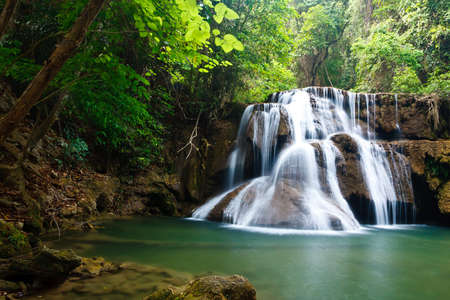 Waterfall in National Park , Kanchanaburi Province , Thailand photo