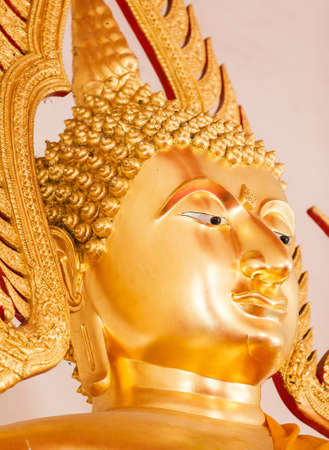 Head of the Buddha in the temple, Thailand. photo