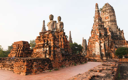 Wat chaiwatthanaram, Ancient temple at Ayutthaya, Thailand. Stock Photo