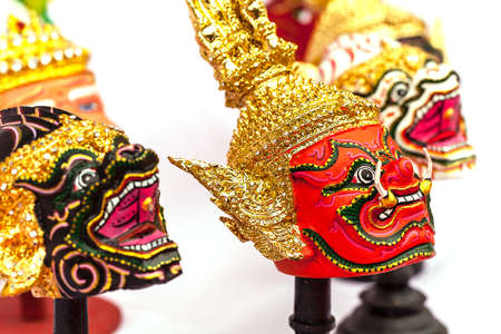 Native Thai style  giant mask, use in royal performance, Khon. photo