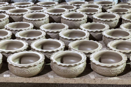 large group of clay pots spread Stock Photo - 15766043