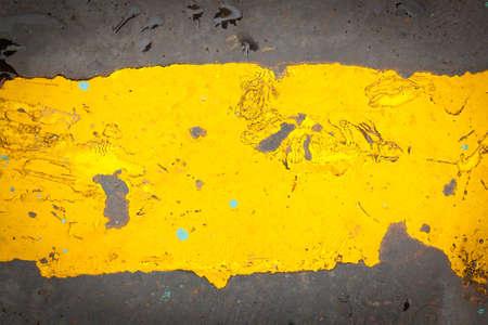 Dark steel floor plate paint with yellow pattern