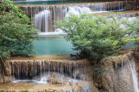 Beautiful Waterfall in Srinakarin Dam National Park , Kanchanaburi Province , Thailand Stock Photo - 16621033