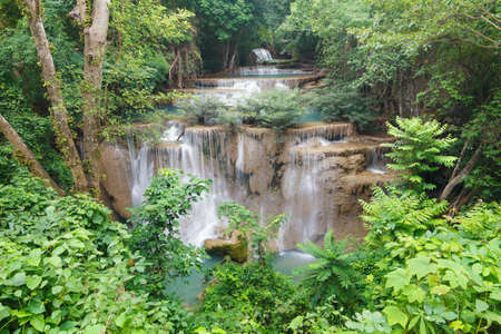 Beautiful Waterfall in Srinakarin Dam National Park , Kanchanaburi Province , Thailand Stock Photo - 16925025