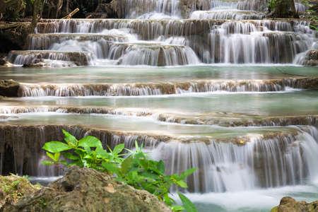 Waterfall in National Park , Kanchanaburi Province , Thailand Stock Photo - 17354161