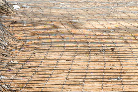 steel bars construction materials, in a construction site Stock Photo - 18657605
