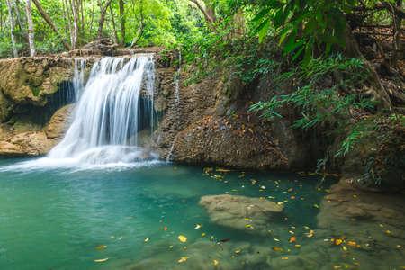 rill: Waterfall in National Park , Kanchanaburi Province , Thailand