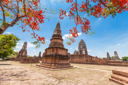 Wat Phra Sri Rattana Mahathat Historical park in lopburi Thailand photo