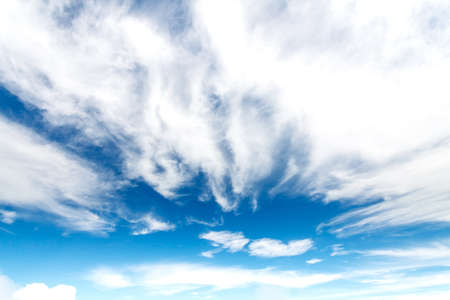 Beautiful clouds in the blue sky  photo