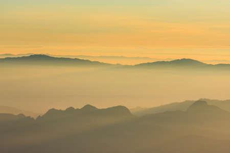 dao: Sunrise view point from Doi Chiang Dao mountain, Chiang mai, Thailand.