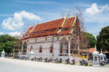 contruction: Thai church under contruction in thailand.