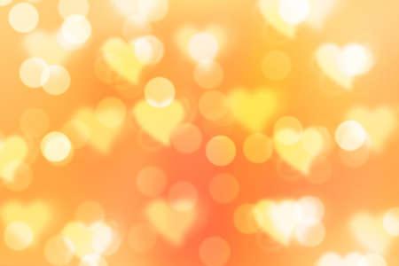 golden  gleam: golden valentine sparkle bokeh background or bokeh wallpaper Stock Photo