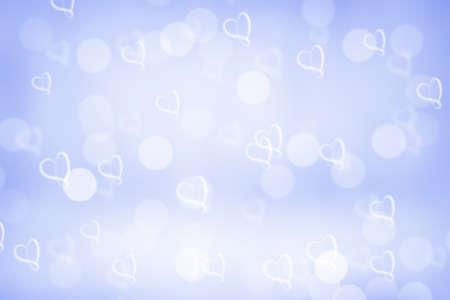 corazones azules: azul de fondo valent�n chispa bokeh o papel tapiz bokeh