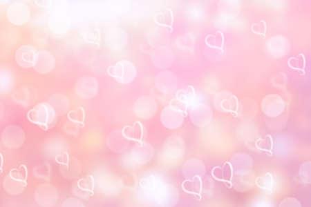 ピンクのバレンタイン輝きボケ背景かボケ壁紙 写真素材