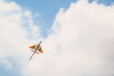 clear away: colorful airplane and nd clound on the sky