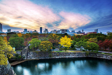 denver city park: Colorful City , Tree and sky in Japan Stock Photo