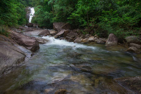 Rainbow Waterfall at Trang, Thailand.