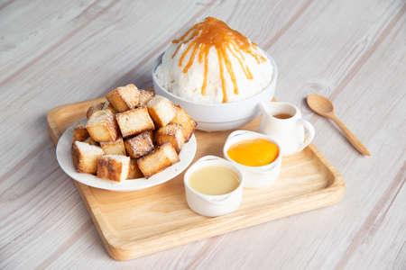 Bingsu and toast