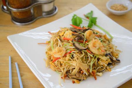 Hongkong noodle on white dish