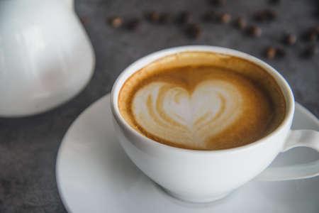 Coffee Art and coffee bean on loft.