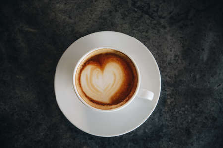 coffee Art simple shot on top shot.