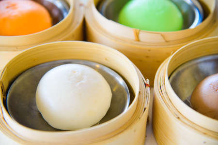 Steamed Bun or salapao in thailand or dimsum.
