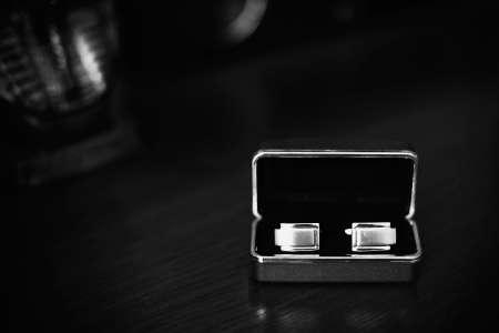 cufflinks: Bond cufflinks Stock Photo