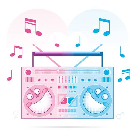 television aerial: music is love Illustration
