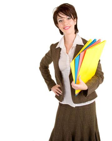 del secretario: Sonriendo hermoso Businesswoman