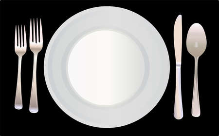 settings: Place Setting Vector Illustration