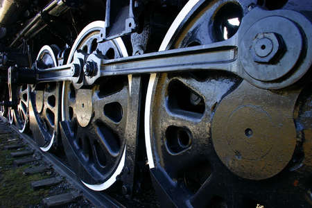 huge: Big Train Wheels