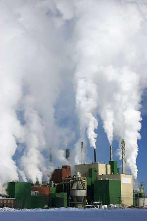 Paper Mill Producing a Lot of Smoke photo