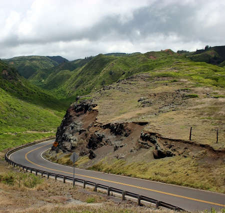 schlagbaum: Driving Insel Maui's Bergstra�en