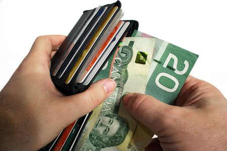 negotiable: Paying Cash Stock Photo
