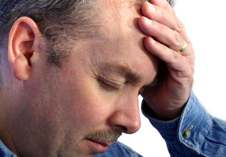cognition: Deep Thoughts or Headaches Stock Photo