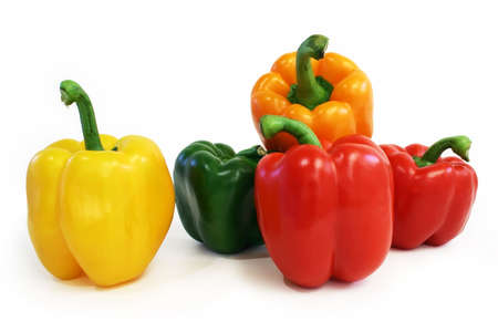 Multicolored Peppers Stock Photo
