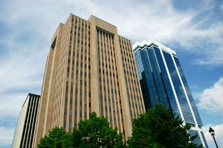 superstructure: Downtown Office Buildings Stock Photo