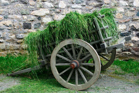 two wheel: 18th Century Hay Cart