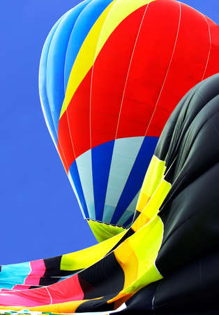 Partially Inflated Hot Air Balloons Stock Photo - 521242