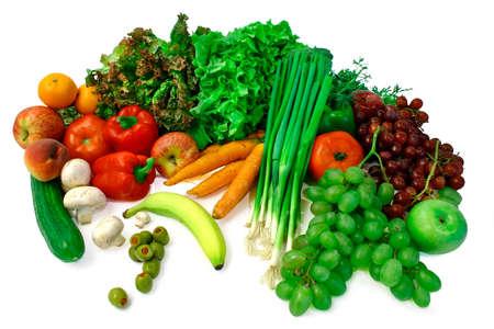 nonfat: Vegetables and Fruits Arrangement