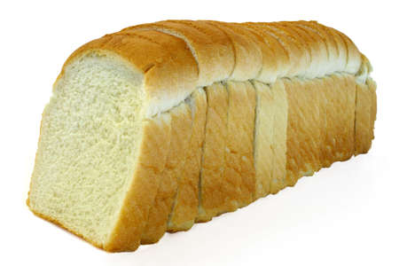 ailment: Sliced White Bread Stock Photo
